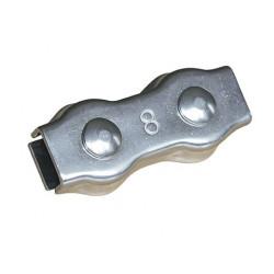 Connecteur de cordelette 8mm inox   X10